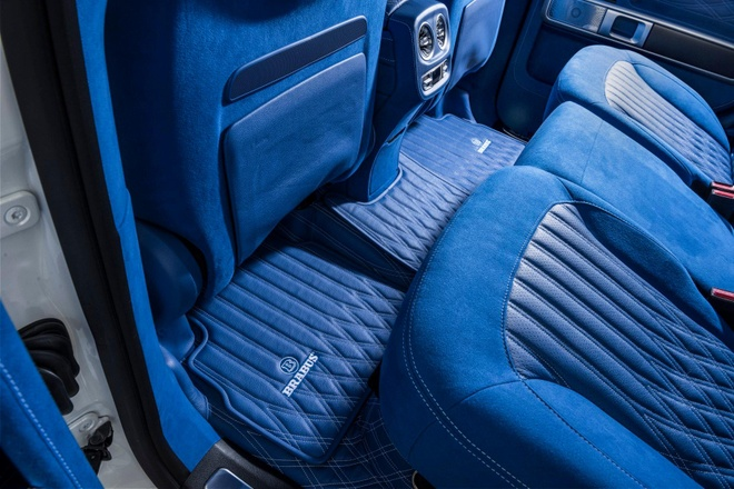 'Vua dia hinh' Mercedes-AMG G63 noi that xanh doc dao hinh anh 7