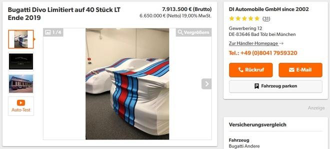 Ban suat mua Bugatti Divo lai ngay 2 trieu USD hinh anh 1