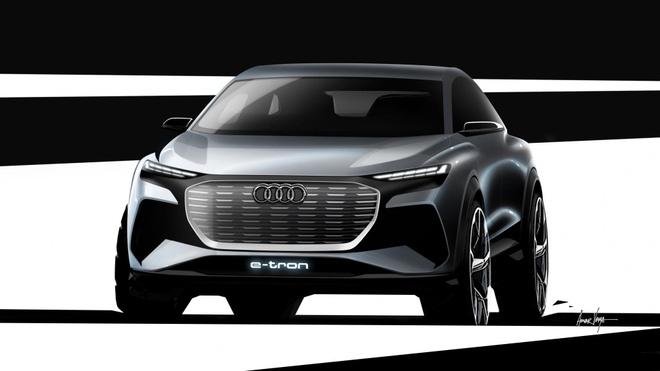 Audi cong bo concept Q4 E-Tron, san xuat nam 2021 hinh anh