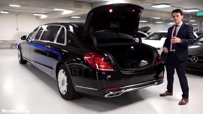 Mercedes-Maybach S600 Pullman Guard 2019 chong dan gia 1,56 trieu USD hinh anh 3