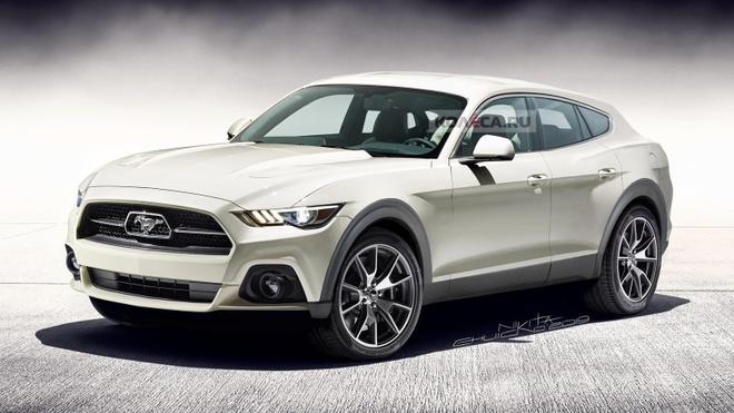 Sieu SUV mang cam hung Ford Mustang sap lo dien, van co hop so san hinh anh