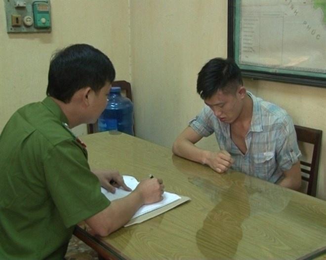 Pha duong day ca do bong da 50 ty lon nhat Thai Nguyen hinh anh 1 Hải tại cơ quan điều tra.