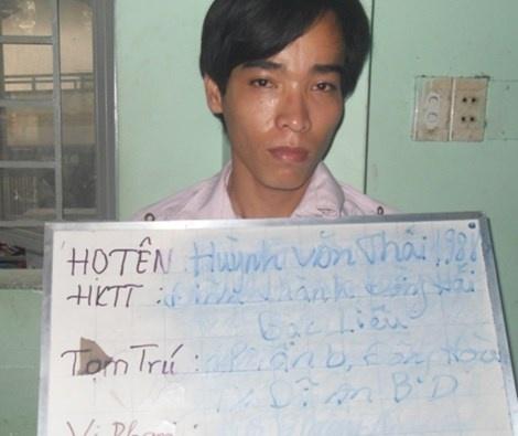 Huỳnh Văn Thái tại cơ quan điều tra.