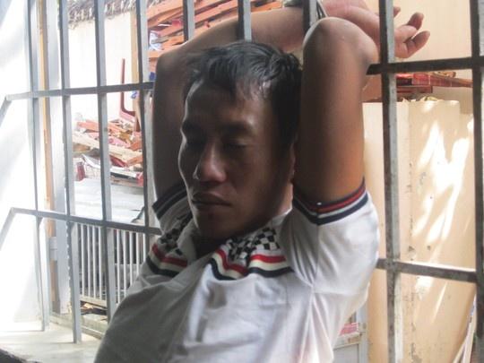 Nguyễn Văn Tiến bị giữ tại công an phường.