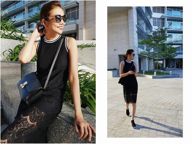 Thanh Hang, Gigi Hadid dien vay va sneaker nhu the nao? hinh anh
