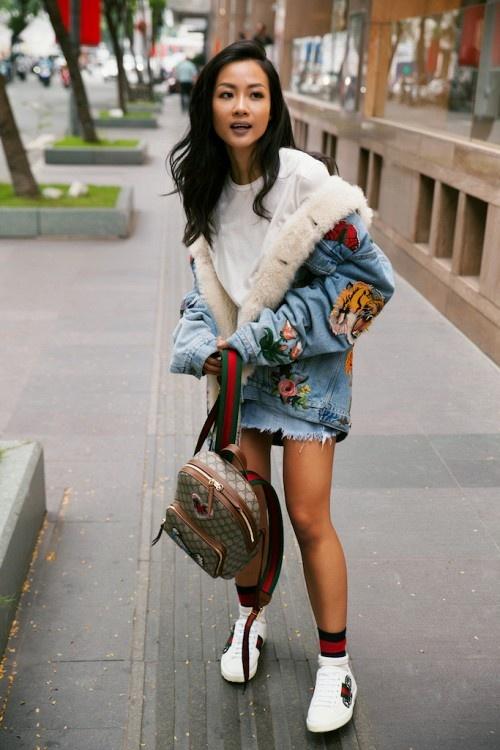 Thanh Hang, Gigi Hadid dien vay va sneaker nhu the nao? hinh anh 2
