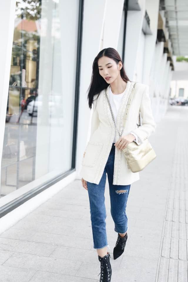 Ket hop trang phuc cung quan jeans nhu Thanh Hang, Hoang Thuy Linh hinh anh 6