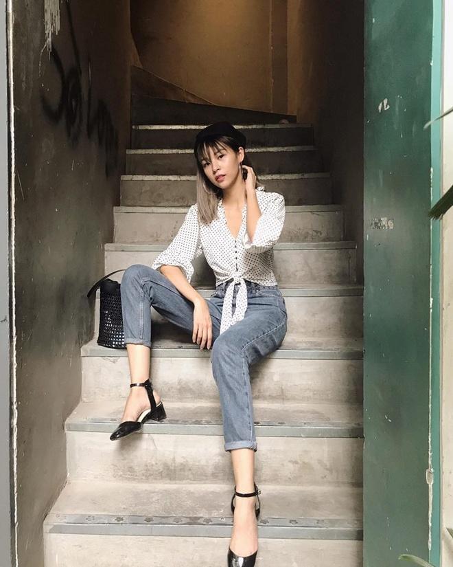 Ket hop trang phuc cung quan jeans nhu Thanh Hang, Hoang Thuy Linh hinh anh 8