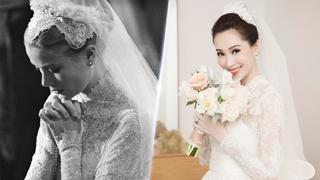 Dang Thu Thao 'trung' y tuong vay cuoi voi cong nuong Grace Kelly hinh anh 4