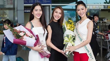 Ha Thu len duong tham gia Hoa hau Trai dat 2017 hinh anh