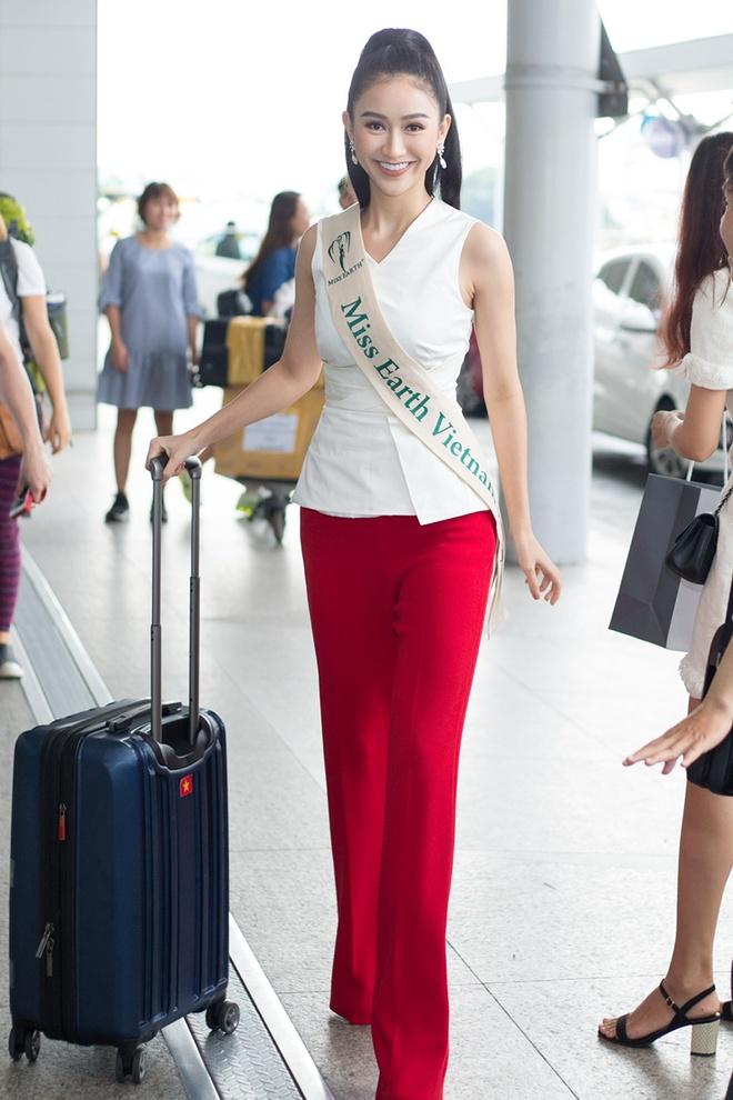 Ha Thu len duong tham gia Hoa hau Trai dat 2017 hinh anh 1