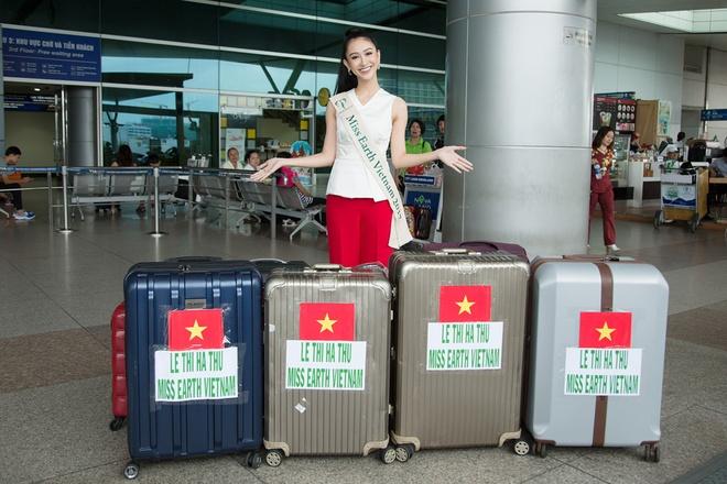 Ha Thu len duong tham gia Hoa hau Trai dat 2017 hinh anh 3