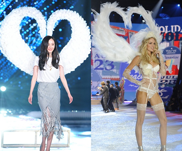 Sui He dien canh nhai Victoria's Secret trong show truyen hinh hinh anh 2