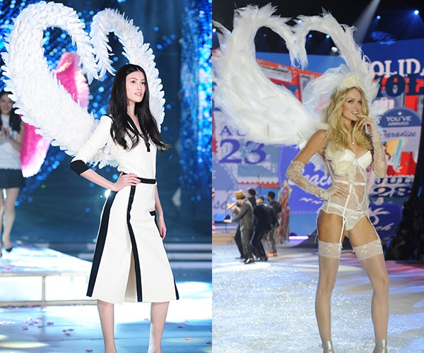 Sui He dien canh nhai Victoria's Secret trong show truyen hinh hinh anh 1