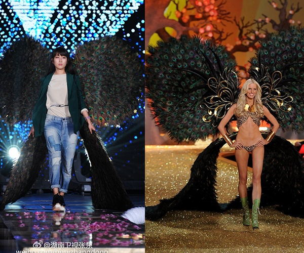Sui He dien canh nhai Victoria's Secret trong show truyen hinh hinh anh 3