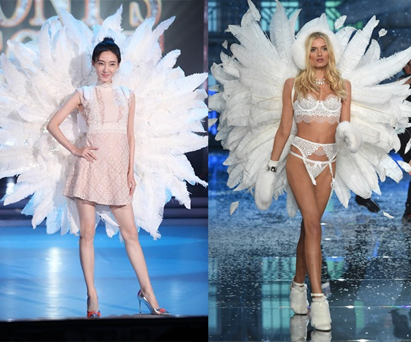 Sui He dien canh nhai Victoria's Secret trong show truyen hinh hinh anh 5