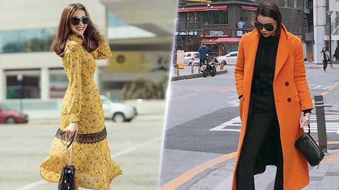 Street style cua Ho Ngoc Ha, Thanh Hang dep nhat tuan qua hinh anh