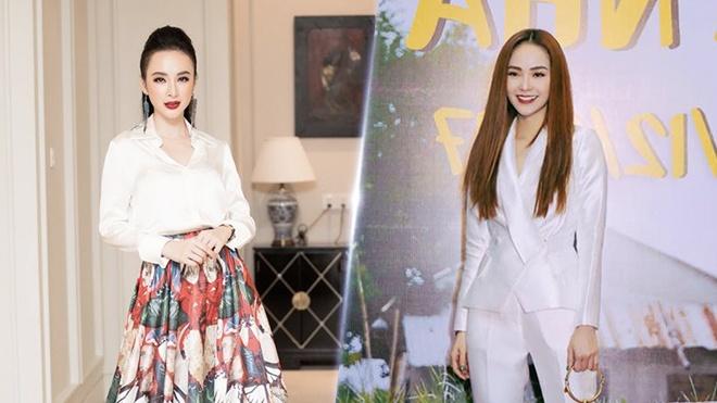 Minh Hang, Angela Phuong Trinh dien trang phuc sac trang noi bat tuan qua hinh anh