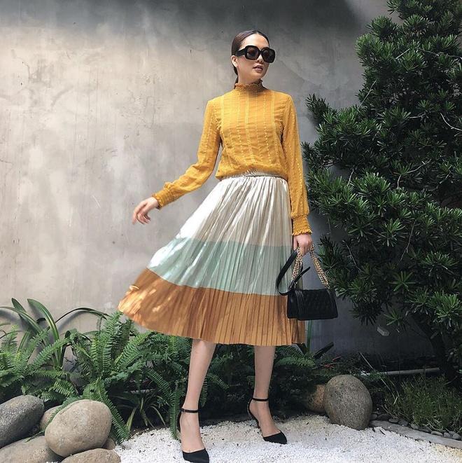 Street style cua Hoang Thuy Linh, Minh Hang dep nhat tuan qua hinh anh 7