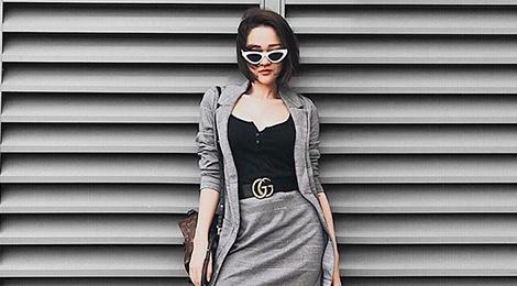 Street style sao Viet: Bao Anh dien do ca tinh sau khi cat toc ngan hinh anh