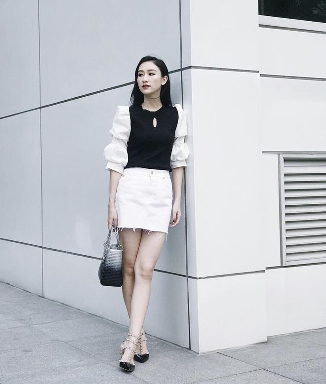 Sao Viet phoi trang phuc street style cung tui xach hang hieu ra sao? hinh anh 4
