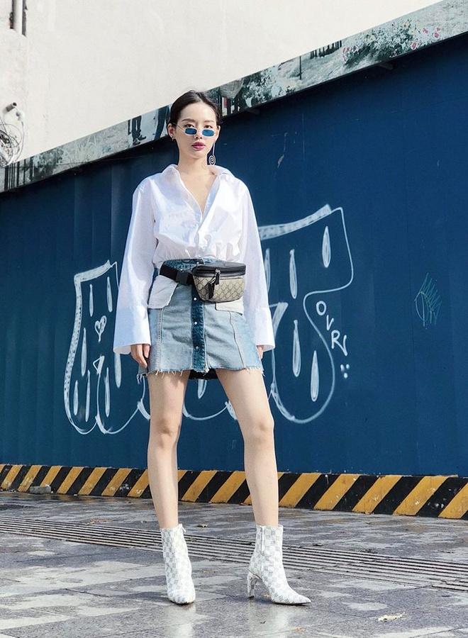Sao Viet phoi trang phuc street style cung tui xach hang hieu ra sao? hinh anh 8