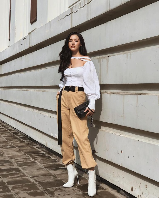 Street style sao Viet: Quynh Anh Shyn, Phuong Trinh mac chat hinh anh 9