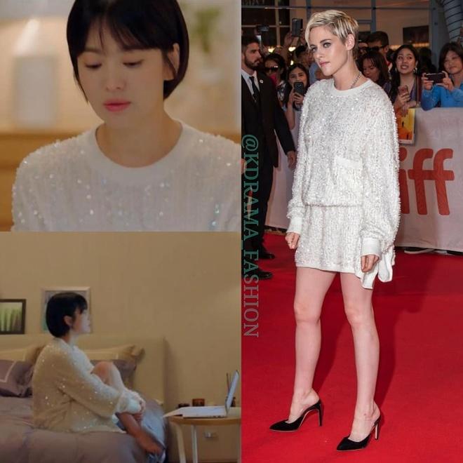Vay ao, tui xach hang hieu dat do cua Song Hye Kyo trong 'Encounter' hinh anh 2