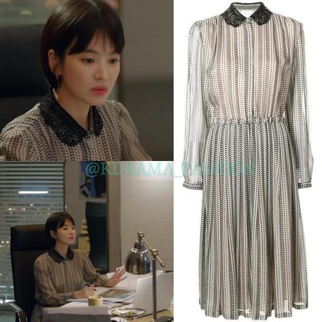 Vay ao, tui xach hang hieu dat do cua Song Hye Kyo trong 'Encounter' hinh anh 3