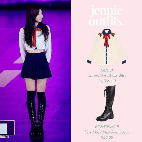 Jennie (Black Pink) bien tau trang phuc hang hieu the nao? hinh anh 8