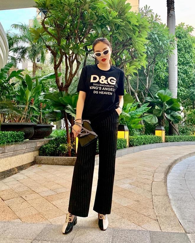 Thanh Hang, Ky Duyen va Minh Trieu dong dieu trang phuc street style hinh anh 3