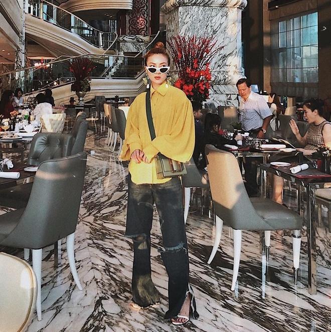 Thanh Hang, Ky Duyen va Minh Trieu dong dieu trang phuc street style hinh anh 8