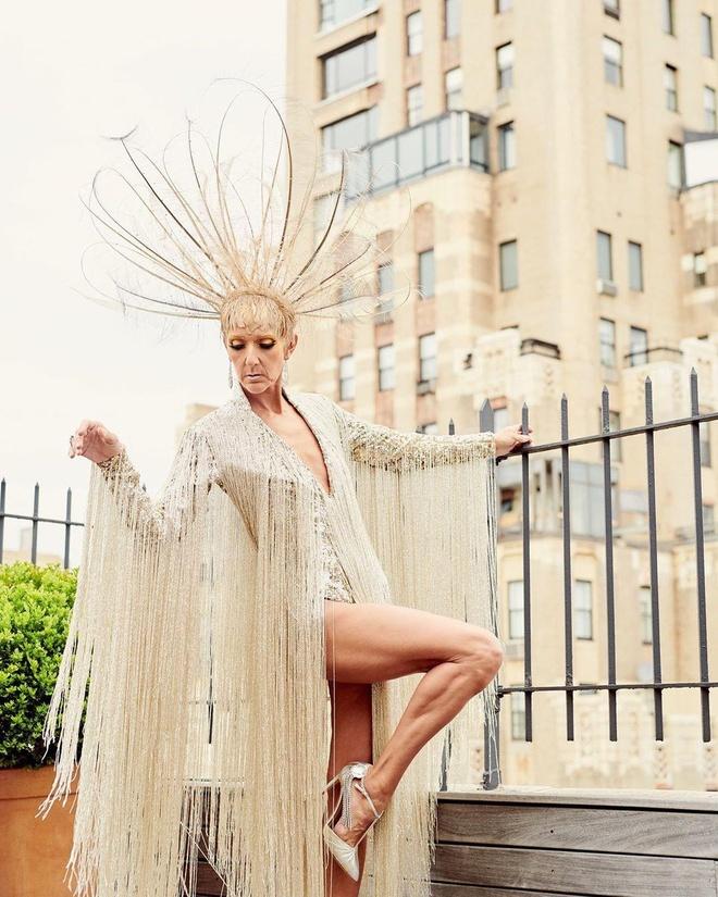 Mac vay dat vang 10kg, Celine Dion la 'Nu hoang' tai Met Gala 2019 hinh anh 4