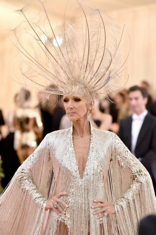 Mac vay dat vang 10kg, Celine Dion la 'Nu hoang' tai Met Gala 2019 hinh anh 3