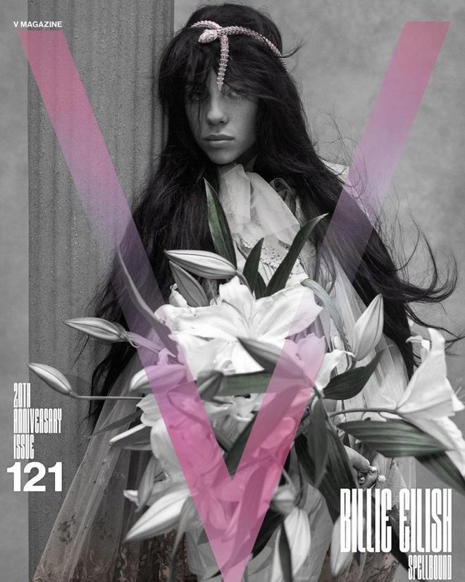 Billie Eilish đội vòng cổ hơn 6 tỷ đồng lên đầu trên bìa tạp chí
