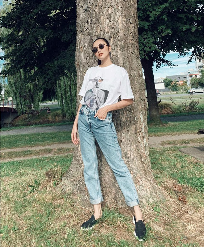 Bi quyet phoi do voi quan jeans dep nhu Ha Tang va dan my nhan Viet hinh anh 1