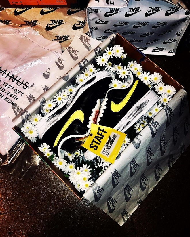 G-Dragon he lo them 3 mau giay hoa cuc hang hiem in logo Chanel hinh anh 5