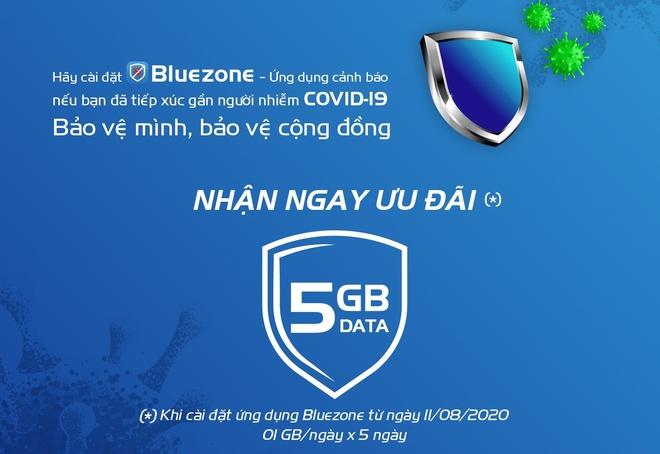 Nha mang Viet Nam tang data cho khach hang cai dat ung dung Bluezone anh 1