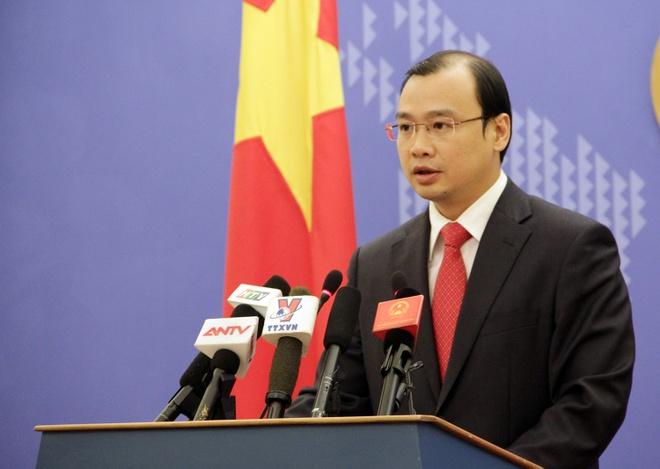 Bo truong Quoc phong My tham Viet Nam hinh anh 1 Người phát ngôn Bộ Ngoại giao Lê Hải Bình. Ảnh: Công Khanh