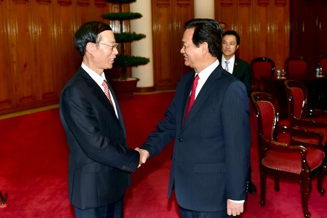 Thu tuong Nguyen Tan Dung tiep Pho thu tuong Trung Quoc hinh anh