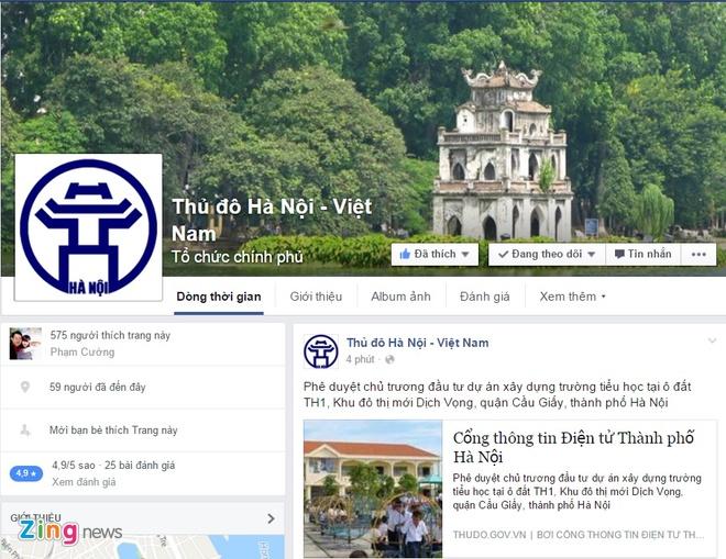 UBND Ha Noi se ket noi voi nguoi dan qua Facebook hinh anh 1 Hà Nội sẽ chủ động cung cấp thông tin qua Facebook. Ảnh chụp màn hình.