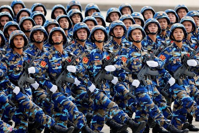 Các chiến sĩ hải quân đánh bộ trong lễ diễu binh kỷ niệm 70 năm Quốc khánh Việt Nam. Ảnh: Minh Hoàng.