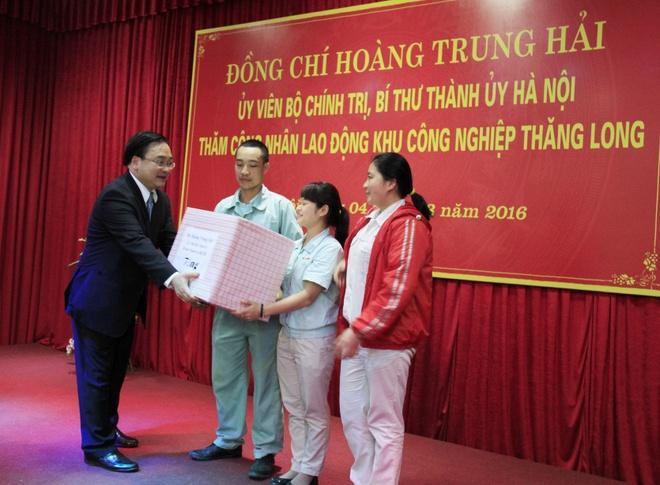 Bi thu Ha Noi: Phai dam bao an ninh, an toan cho cong nhan hinh anh