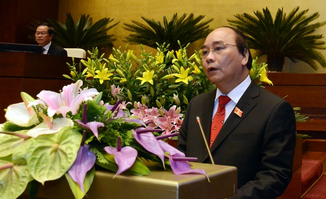 Bai phat bieu dau tien cua Thu tuong Nguyen Xuan Phuc hinh anh