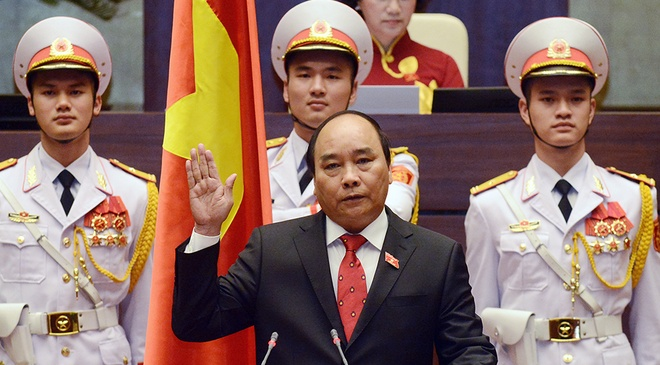 Tan Thu tuong Nguyen Xuan Phuc tuyen the nham chuc hinh anh