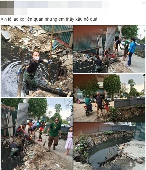 Chu tich Nguyen Duc Chung bieu duong 'ong Tay don rac' hinh anh 2