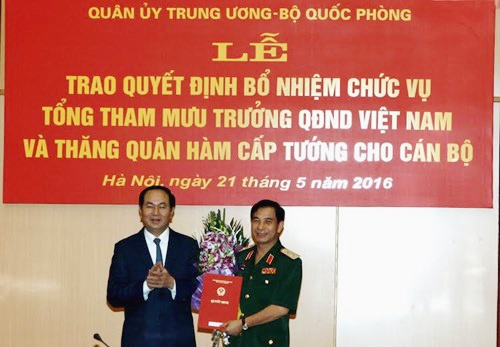 Trung tuong Phan Van Giang lam Tong tham muu truong quan doi hinh anh 1
