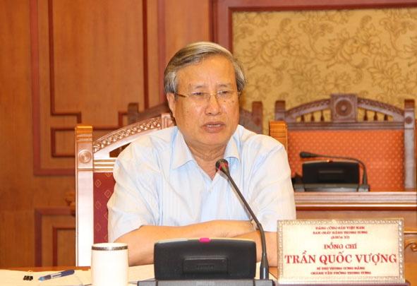 Ong Tran Quoc Vuong Tham Gia Thuong Truc Ban Bi Thu Hinh Anh 1