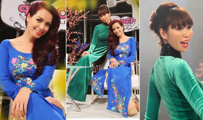 Thuy Hanh va Ha Anh do dang voi ao dai ngay xuan hinh anh