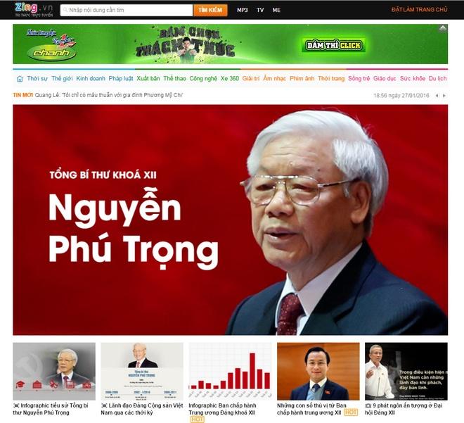 Zing.vn nhan bang khen ve thong tin Dai hoi Dang XII hinh anh 1